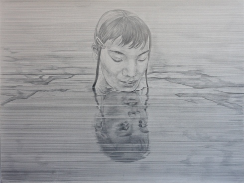 Silverpoint drawing, TBH, Idioglossia (Echo)